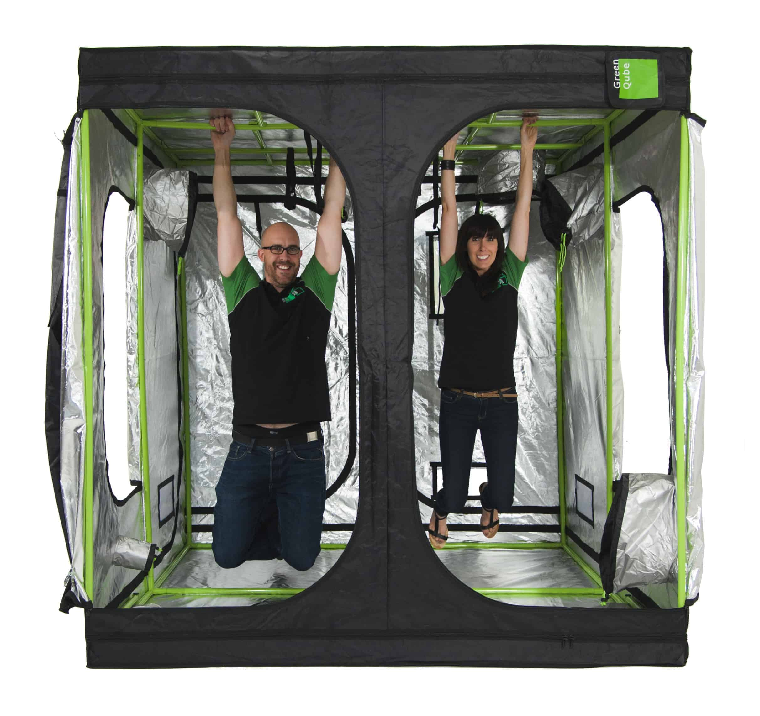 ... grow tent hanging weight of 100kg · Roof Qube hanging weight of 100kg ...  sc 1 st  Green Qube & Green-Qube 240 Grow Tent - 2.4m x 2.4m x 2.2 and 2m
