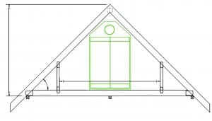 roof-qube grow tent from green qube