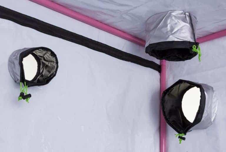 LED Qube grow room - bars