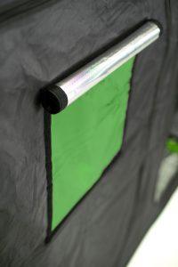 Sensor windows for green qubee grow tent
