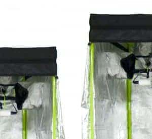 220cm tall grow tents by Green Qube