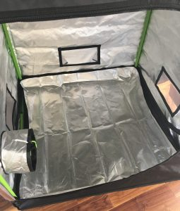 spill tray for roof qube grow tent