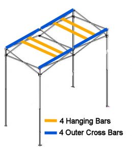 Hanging bars for quick qube small grow room