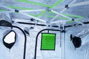 Grow Tent Quick Qube internal view