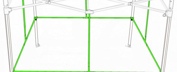 Quick qube by green qube expansion bars for grow tent