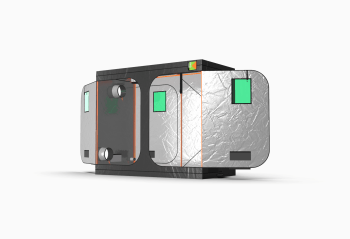 Grow Tent by Green Qube - GQ1224L - Side