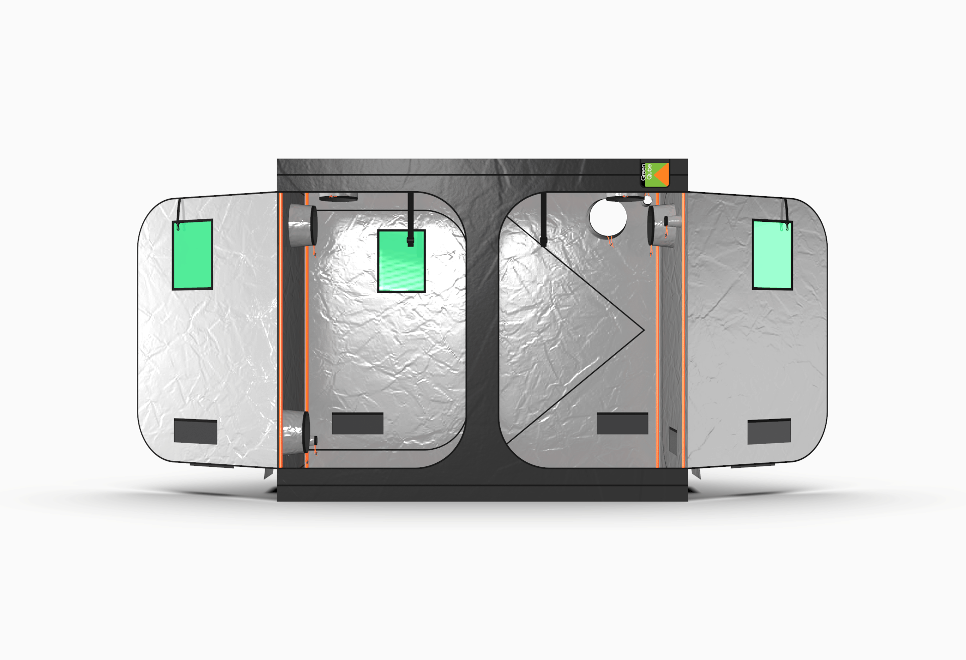Grow Tent by Green Qube - GQ1224L Front