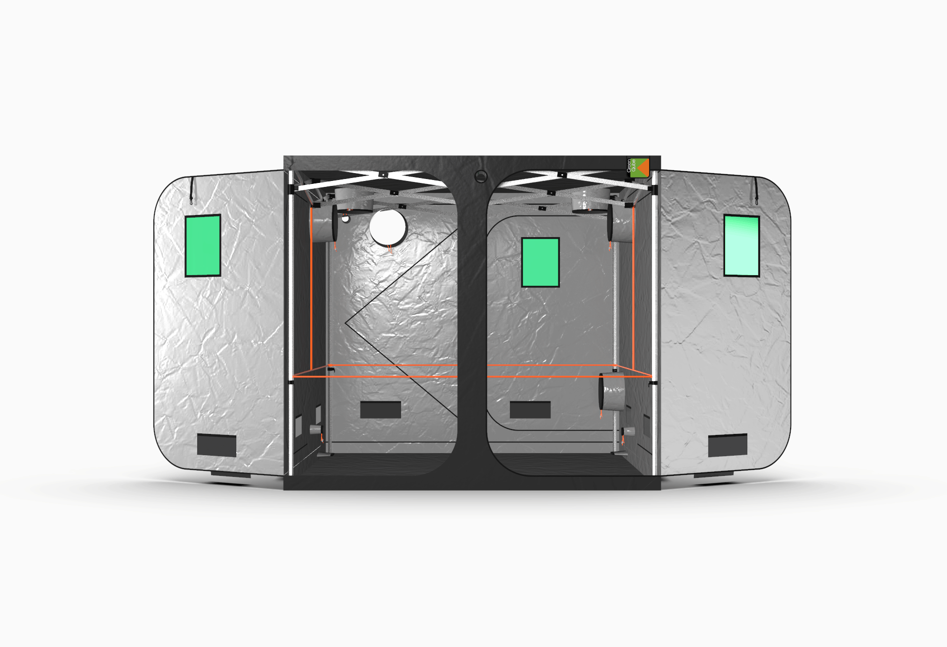 Grow Tent from Green Qube - the Quick Qube 240 front